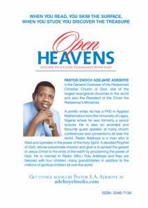 from Daddy adeboye 2020