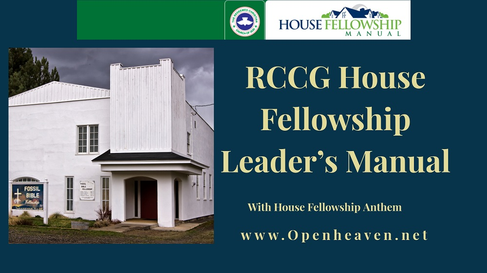 RCCG house fellowship manual