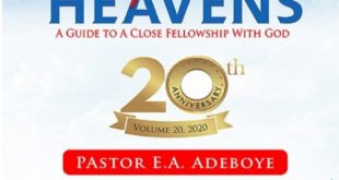OPEN HEAVEN 29 NOVEMBER 2020 SUNDAY