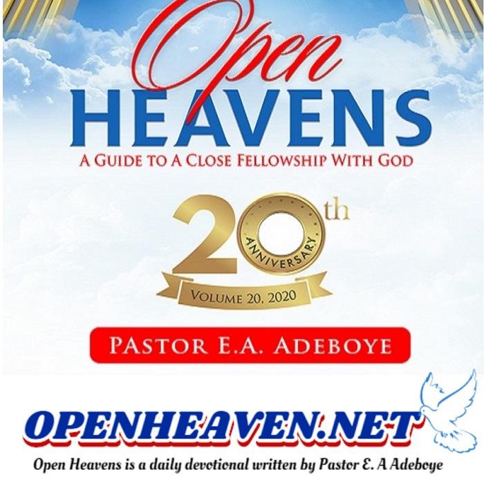 OPEN HEAVEN 29 NOVEMBER 2020 SUNDAY