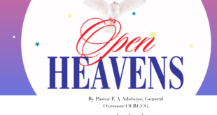 OPEN HEAVEN 2 JUNE 2020 TUESDAY: THE WORD DELIVERS!