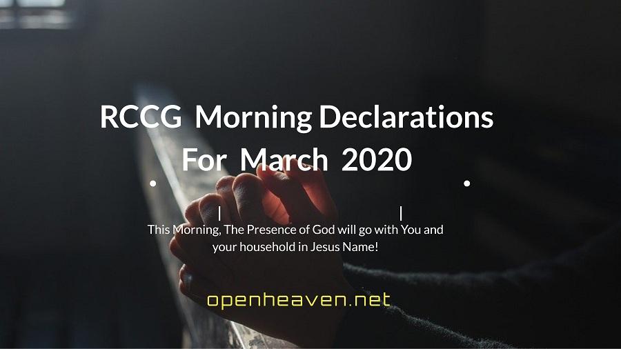 RCCG March Declarations