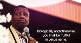 Today's Daily Declaration for Monday 1st June, 2020 By Pastor E.A Adeboye