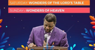 RCCG APRIL 2021 HOLY COMMUNION SERVICE THEME: GOD BLESS YOU - PART 4 (BLESSED FRUITS) MINISTERING: PASTOR E.A ADEBOYE