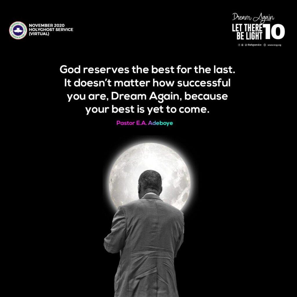 Open Heaven Sunday 15 November 2020