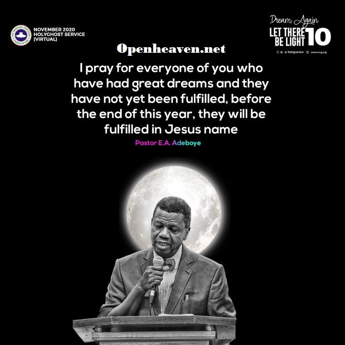 Open Heavens 11 November 2020