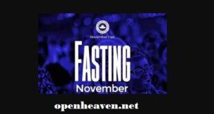 rcg November fasting 2020