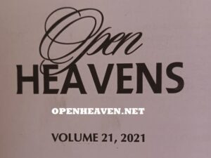 Open Heavens February 2021 Thursday February 4