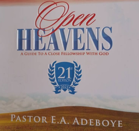 OPEN HEAVENS Thursday 25 February 2021