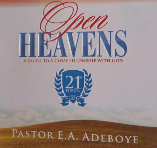 Open heaven January 2021 Thursday January 14
