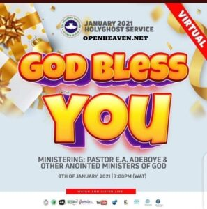 RCCG JANUARY 2021 HOLY GHOST SERVICE