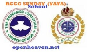 RCCG SUNDAY SCHOOL STUDENT'S MANUAL MAIDEN SPECIAL FOR YOUNG ADULTS AND YOUTHS (YAYA)